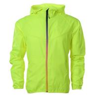 Wholesale army green windbreaker men for sale - Group buy Autumn Spring Men Casual Jacket Windbreaker Casual Zipper Coat Waterproof Running Outwear Black Green Designer Jackets