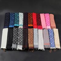 ingrosso sciarpe di grandi dimensioni-Buona Sciarpa Qualtiy per la seta lana donna donne sciarpa di marca Sciarpe 2018 sciarpe di modo quadrati grandi dimensioni 140x140cm AD-96A