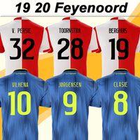 fußball trikots feyenoord großhandel-2019 20 Feyenoord V. PERSIE Mens Fußball-Trikots Toornstra JORGENSEN Home Away Fußball-Hemden VILHENA Clasie LARSSON Berghuis Short Uniformen