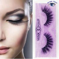 fábrica de cílios postiços venda por atacado-3D vison cílios postiços cílios naturais feitos à mão macia cílios longos extensão cílios real vison para maquiagem por olhos de uva