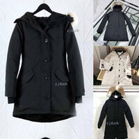 Wholesale duck knitting resale online - Hot sell Women Victoria Femme Outdoors Fur Down PARKA Hiver Warm Windproof Down Coat Thicken Fourrure Hooded Jacket Manteaus Doudoun