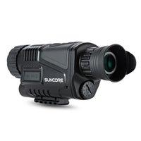 infrarot nachtsicht monokular großhandel-2018-SUNCORE 5 x 40 Infrarot-Digital-Nachtsichtteleskop Hohe Vergrößerung mit Videoausgabefunktion Jagd Monokular 200m Ansicht