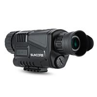video görüntüsü toptan satış-2018-SUNCORE 5x40 Kızılötesi Dijital Gece Görüş Teleskop Video Çıkışı Fonksiyonu ile Yüksek Büyütme Avcılık Monoküler 200 m Görünüm