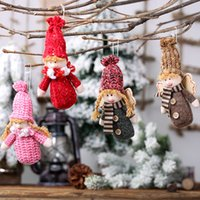 Wholesale angels outdoor decoration for sale - Group buy 2019 New Year Christmas Ornament Decorations for Home Outdoor Boy Girl Angel Pendant Christmas Little Doll Puppet Charm Gift