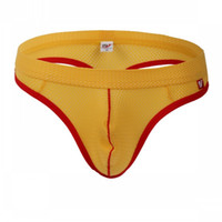 ücretsiz erkekler seksi iç çamaşırı toptan satış-# 4003DK Toptan 5 adet seksi erkek iç çamaşırı lingerie mesh delikler nefes kılıfı thongs t-string g-string ücretsiz kargo