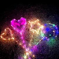 2019 New LED Lights Balloons Night Lighting Bobo Ball Multicolor Decoration Balloon Wedding Decorative Bright With Stick