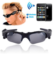 змеиные крючки бесплатная доставка оптовых-Bluetooth очки Солнцезащитные очки светостойкий вождения очки наушники Handsfree телефон беспроводная гарнитура MP3-плеер музыка наушники для IOS Android