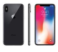 arka yüz kamerası toptan satış-100% Orijinal Unlocked kaliteli yenilenmiş iPhone X Hexa Çekirdek 256 GB / 64 GB ROM 3 GB RAM Çift Arka Kamera 4G LTE Yüz KIMLIĞI telefon