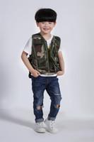 Wholesale outdoor tactical vest for sale - Army fans camouflage Vest kids men and women sports outdoors Tactical Army fans men and women colors mixpopular am3