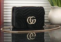 kadife debriyajlar toptan satış-GUCCI Yüksek kalite en kadınlar çanta ünlü marka omuz çantası Kadife lüks moda Debriyaj messenger çanta kadın el çantası kesesi