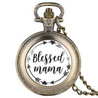 antik kadın saatleri toptan satış-Kadın Cebi için Vintage Cebi Zarif Kutulu Mama Serisi Orta Cebi Antik Kadınlar için Büyüleyici Beyaz Kadran Kolye Izle