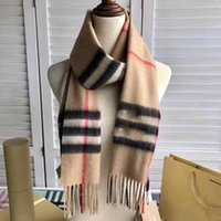 Wholesale modal scarves resale online - 11Color Hot Design Woman And Mens Cashmere Plaid Scarf Luxury Shawl Size180 Fashion For Autumn And Winter Double Sided With hand bag
