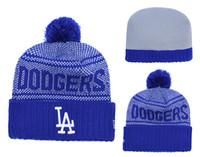 NEW Los Angeles Dodger da uomo a maglia con risvolto a forma di cappello  Beanie a righe a righe in lana calda Berretto da baseball con cappuccio  Berretto ... f82647040254