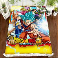 Wholesale white pink sheets black bedding for sale - Group buy Z Anime Printing Bedding Set Sheet Vegeta Son Goku Z Zetto Children Room Bed Sheet Bedding Set