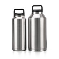 Wholesale car thermos for sale - Group buy 550 ml Large Capacity Stainless Steel Car Mug Double Wall Thermos Bottle Portable Vacuum Flask Insulated Cup for Travel Y200106