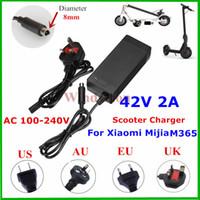 lithium-batterie elektroroller großhandel-NEUE Universal Hoverboard Ladegerät EU / AU / UK / US Buchse 42 V 2A Lithium Ladegerät Für Mijia M365 / ES2 Elektroroller 10 stücke DHL