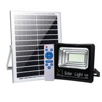 açık led avlu ışıkları toptan satış-Güneş Sel Işıkları Açık Alacakaranlık Şafakta IP67 Su Geçirmez Uzaktan Kumanda Güneş Enerjili Güvenlik Işıkları Otomatik Açma / Kap ...