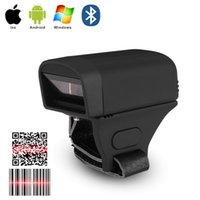 Wholesale portable bluetooth barcode scanner for sale - Group buy 2019 Portable Handheld Bluetooth Wireless Ring Finger D Barcode Scanner Reader Support for windows system for Supermarket