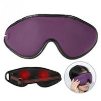 olhos de lavanda venda por atacado-Máscara de Olho de aquecimento magnético Massagem Eyemask Lavanda Fibra De Carbono Compressa Quente Proteção Para Os Olhos Para O Alívio do Círculo Escuro T190712