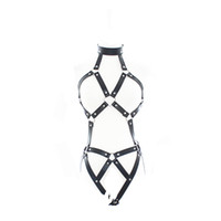 Wholesale leather sex clothes women for sale - Group buy Adjustable Women Sexy Wear Leather Strap breast out Harness Bondage Sex Bra Adult Product SM002