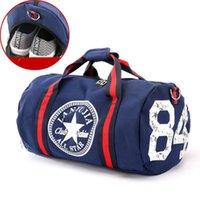 Wholesale shoulder pouch for men resale online - Canvas Sport Bag Women s Travel Bags Yoga Gym Bag for Fitness Shoes Handbags Shoulder Crossbody Pouch Women Men Sport