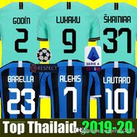 camisetas de futbol tailandia xxl al por mayor-INTER MILAN 18 19 20 Thailand Camiseta de fútbol ICARDI LAUTARO Inter Milan 2019 2020 Camiseta de fútbol  BARELLA GODEN POLITANO EDER AMBROSIO 18 19 camiseta de fútbol