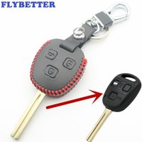 Wholesale lexus key case cover for sale - Group buy FLYBETTER Genuine Leather Button Remote Control Key Case Cover For Lexus Rx330 ES300 IS400 Is200 Car Styling L2109