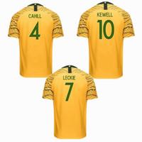fußball-trikots australien großhandel-2019 2020 Australien Trikots CAHILL LECKIE Heim 19 20 Fußball Trikot S-2xl