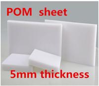 feuille de plastique blanc achat en gros de-5 mm d'épaisseur POM Feuille couleur blanche Plaque en polyoxyméthylène Modèle en acier Gravure CNC Conseil Feuille de plastique d'ingénierie