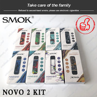 Wholesale Original SMOK NOVO Pod System Kit Draw activated Buil in mAh with ml Mesh ohm DC ohm MTL Pods Cartridges dhl