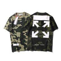 flecha verde t shirts al por mayor-OW para hombre camisetas de diseño EE. UU. Calle BLANCA moda nueva camiseta Camiseta de camuflaje con estampado de camuflaje verde de lujo pareja ocasional camisa de gran tamaño