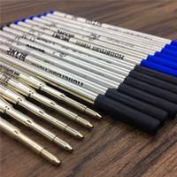 ingrosso ricaricare la penna d'inchiostro blu-Commercio all'ingrosso - Alta qualità MB Pen Refill Black / Blue Refill Rollerball penna penna a sfera materiale scolastico per ufficio Scrivi Smooth accessori inchiostro