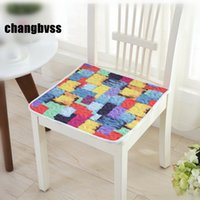 Wholesale dining car resale online - Colorful Dining Chair Cushions Floor Mat Pad Cheap Seat Cushion Car Mat Colors Home Decor Chair Cushions almofada cojines