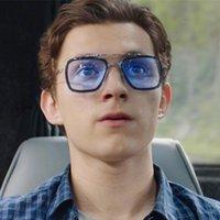 typen spinnen großhandel-Spider-Man-Sonnenbrille grenzüberschreitende downey Sonnenbrille Männer und Frauen Mode Box Iron Man Brille Großhandel mit dem gleichen Typ