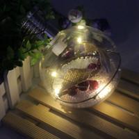 luzes redondas da árvore da bola venda por atacado-Energia Solar Pendurado Lâmpada de Cobre Rodada Bola Padrão de Luz CONDUZIDA Da Árvore de Natal Em Casa Quarto Pátio Decoração Luzes