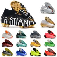 yüksek ayak bileği erkek ayakkabıları toptan satış-2019 Mercurial Superfly VI 360 Elite FG KJ 6 XII 12 CR7 Ronaldo Neymar Erkek Kadın Erkek yüksek ayak bileği Futbol Ayakkabı Futbol Boots Kramponlar US3-11