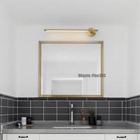 luces impermeables de baño al por mayor-Moderno LED Espejo de pared caliente de luz montado en la pared de la lámpara industrial Baño Luz impermeable del acero inoxidable