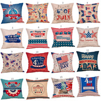 Wholesale flag pillow for sale - Group buy American flag Stars Stripe Pillows Case Letter print Pillow Cover cm Sofa Nap Cushion Covers Home Decoration styles C6458