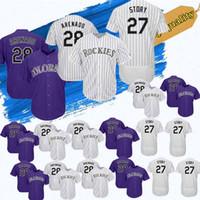 Wholesale top stories resale online - Colorado Jersey Rockies Baseball Nolan Arenado Trevor Story Baseball Jerseys t shirt Top quality
