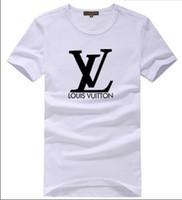 abgerundete halshemden für männer großhandel-Großhandel Männer 2018 Mens Mens T-Shirt Europäischen Stil Samt T-shirt Rundhals Baumwolle Kurze Ärmel Männliche und Weibliche T-shirts