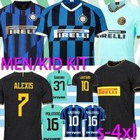 camisa inter venda por atacado-Tailândia ALEXIS Lukaku LAUTARO SKRINIAR Inter 2019 2020 Milan camisa de futebol Calcio GODIN Barella jerseys 2019 top de futebol 2020 camisetas