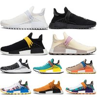 Wholesale human being shoes for sale - Group buy Human Race Mens Women Sun Glow Cream Sports Shoes Women Pharrell Williams Black nerd Equality Human Being Women Running shoes Sneakers