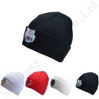 Wholesale red white crochet hat resale online - Men Women Tiger Head Embroidered Hat Winter Hats Warm Soft Skullies Cap Knitting Beanies Crochet Hats Fashion Outdoor Skiing Beanie C81903