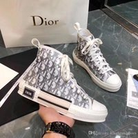 Wholesale sports shoes designs resale online - newest classic luxury design couple shoes high top flat casual sport shoes fashion letters leisure sneakers white