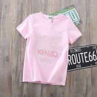 ingrosso camicia ricamata per bambini-Designer Kids T Shirt 2019 Summer New Fashion Tiger Head T-Shirt con stampa ricamata Stampa casual Manica corta Multicolor Kids Luxury Clothes