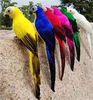 ingrosso ornamenti da giardino animale-Hot Patio Prato 25 / 35cm Handmade Simulazione Pappagallo Creativo Feather Lawn Figurine Ornament Animal Bird Garden Bird Prop Decorazione