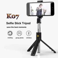 tripé dobrável venda por atacado-Sem fio Bluetooth selfie vara Mini Tripé extensível dobrável Monopod Universal Vivo Multi-função Câmera Para iPhone Samsung Xiaomi Huawe