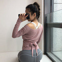 Wholesale can motion for sale - Group buy Around Can Back Clothes Autumn Leisure Time Gym Bandage Hollow Out Speed Do Long Sleeve Ventilation Motion Smock Blouse