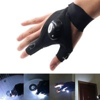 nachtjagd führte lichter großhandel-LED Taschenlampen Handschuhe Nachtfischerhandschuh mit LED Licht Handlicher Handschuh für Nachtreparaturen Jagd Angeln Camping Rettung Radfahren