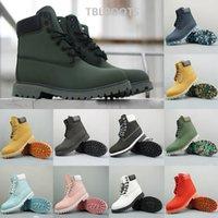 ordu ayak bileği botları toptan satış-2020 Yüksek Kalite Tan Brown Yeşil Ordu Boots Lüks Moda Martin Donanma Bilek Önyükleme İçin Erkekler Kadınlar Avustralya Yürüyüş Açık Sneaker Boyut 36-46
